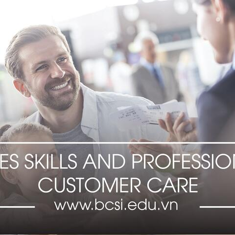 Sales skills and professional customer care